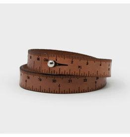 Wrist Ruler - MEDIUM BROWN - 17 inches