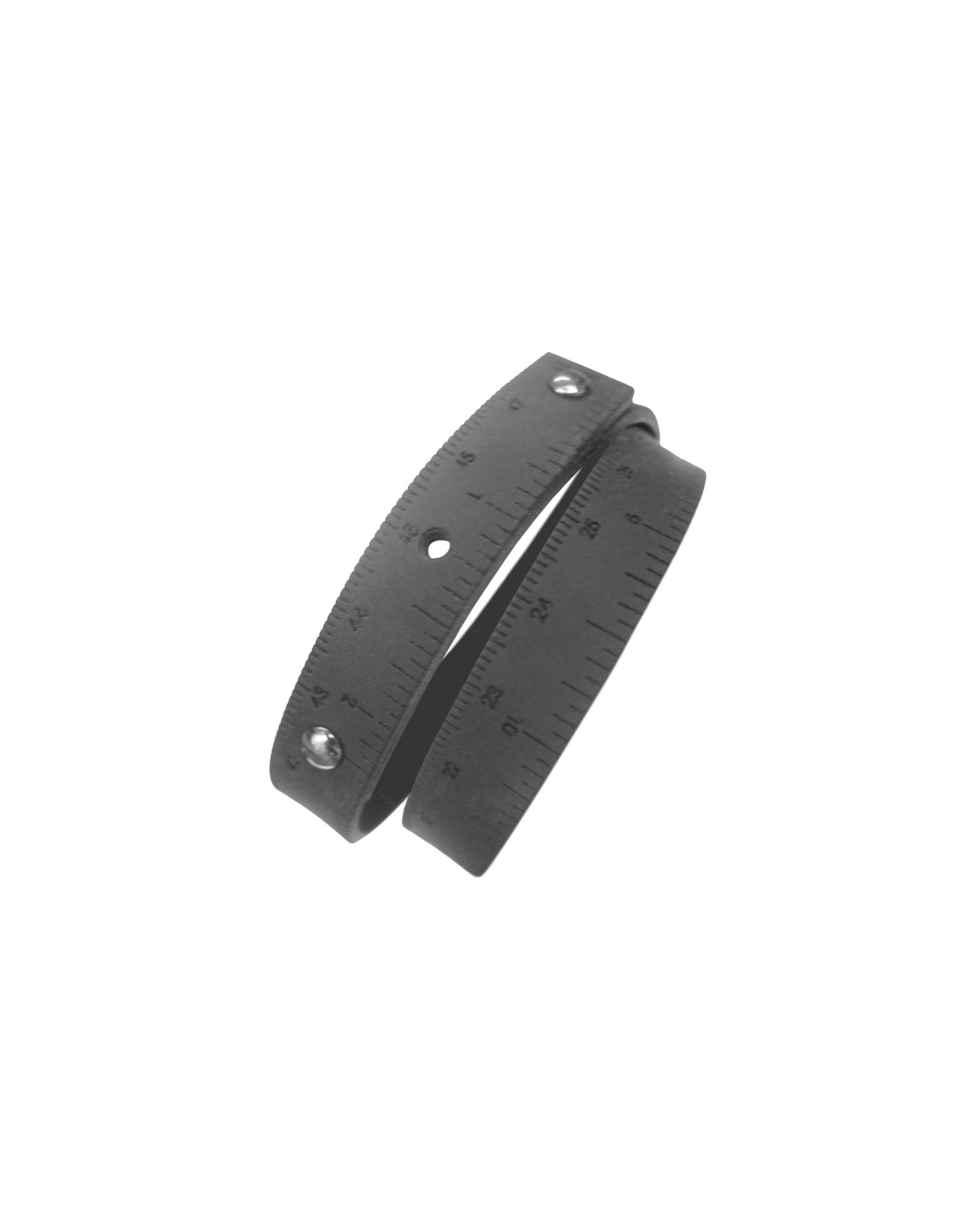 Wrist Ruler - SILICONE - BLACK