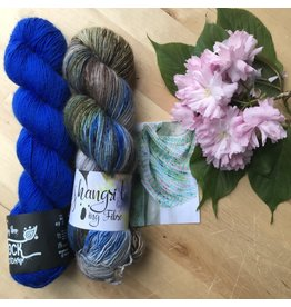 Qing Fibre Qing Fibers Rich Blue - Breathe & Hope Shawl Kit