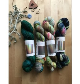 Hedgehog Fibres Favorite Fades of Four Lakeside Curated Kit - Hedgehog