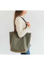Original Wool Project Tote - Green - Twig & Horn