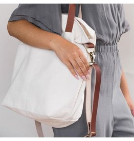 Crossbody Project Tote - Natural Canvas - Twig & Horn