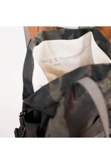Waxed Canvas Crossbody Project Tote - Woodland Waxed Canvas - Twig & Horn