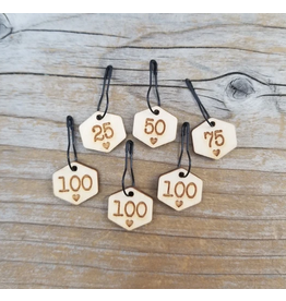 Cast On Counting Numbers set of ring stitch markers by Katrinkles