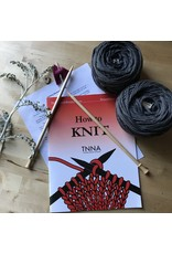 Learn to Knit a Scarf Kit Grey/Blue - 100% All Natural American Wool Yarn - Quince Osprey Storm