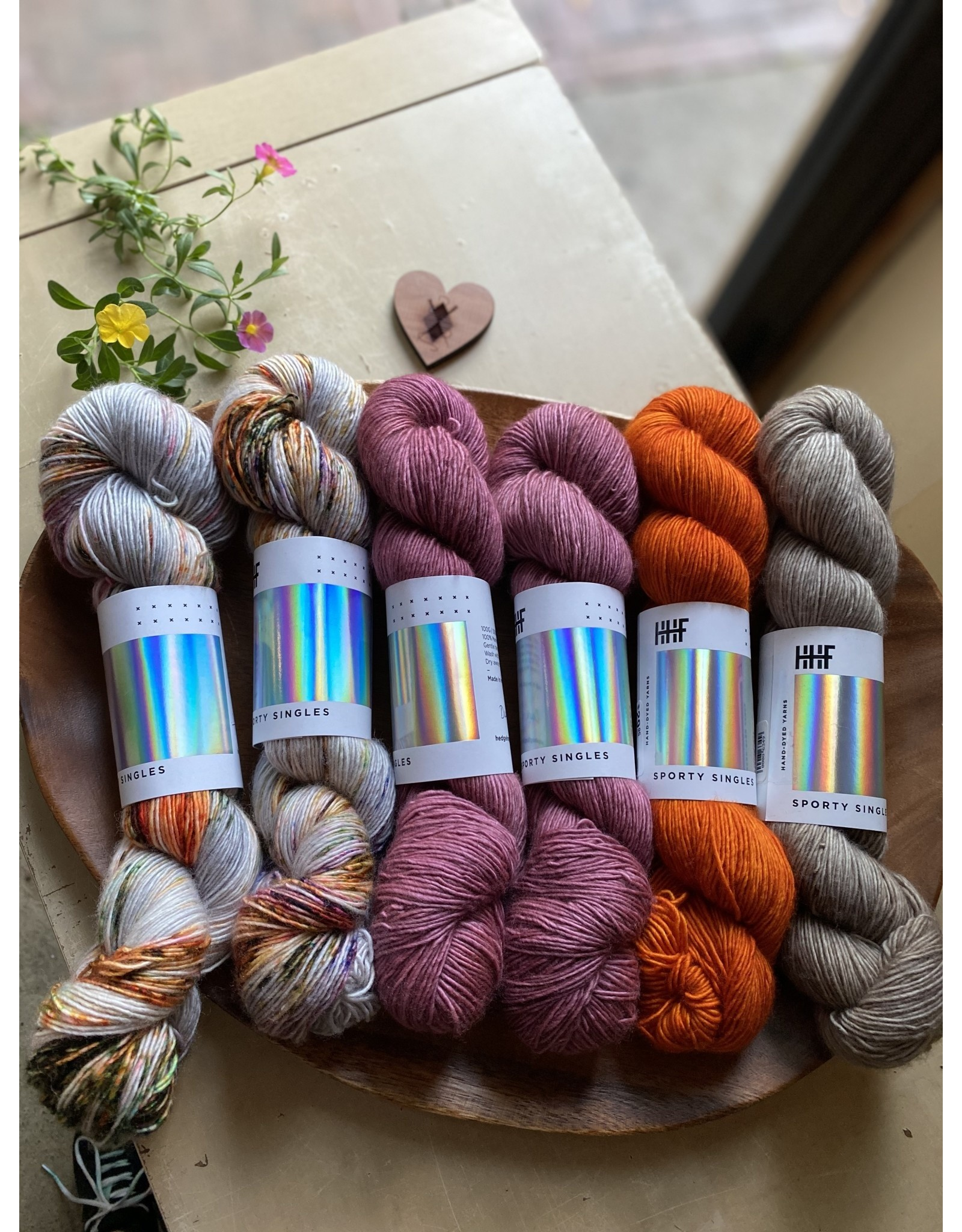 Hedgehog Fibres Sisterly Kit - Kingfisher Palette - Hedgehog Sporty Singles