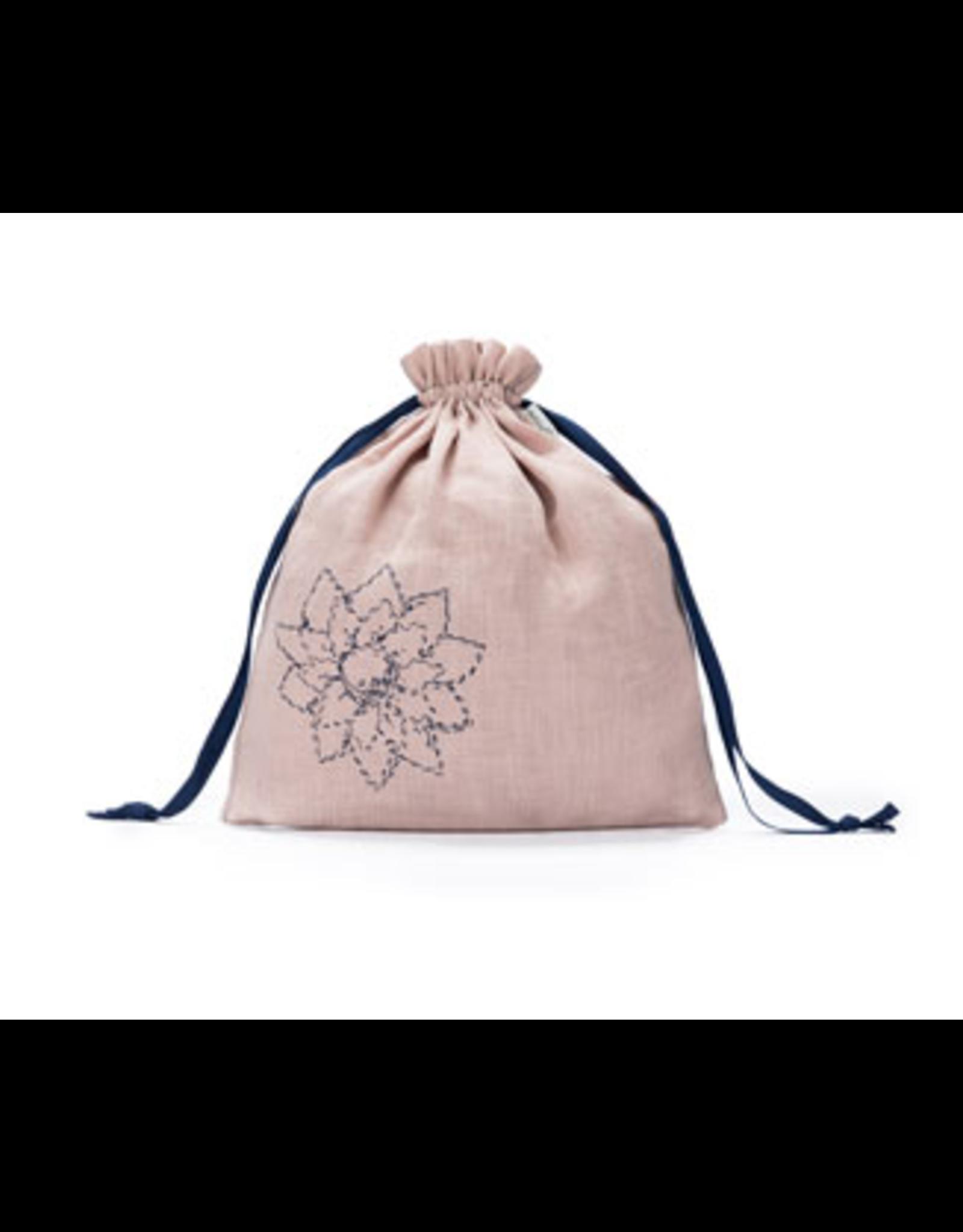 Large Eden Cotton Pouch - Blush Linen - Della Q