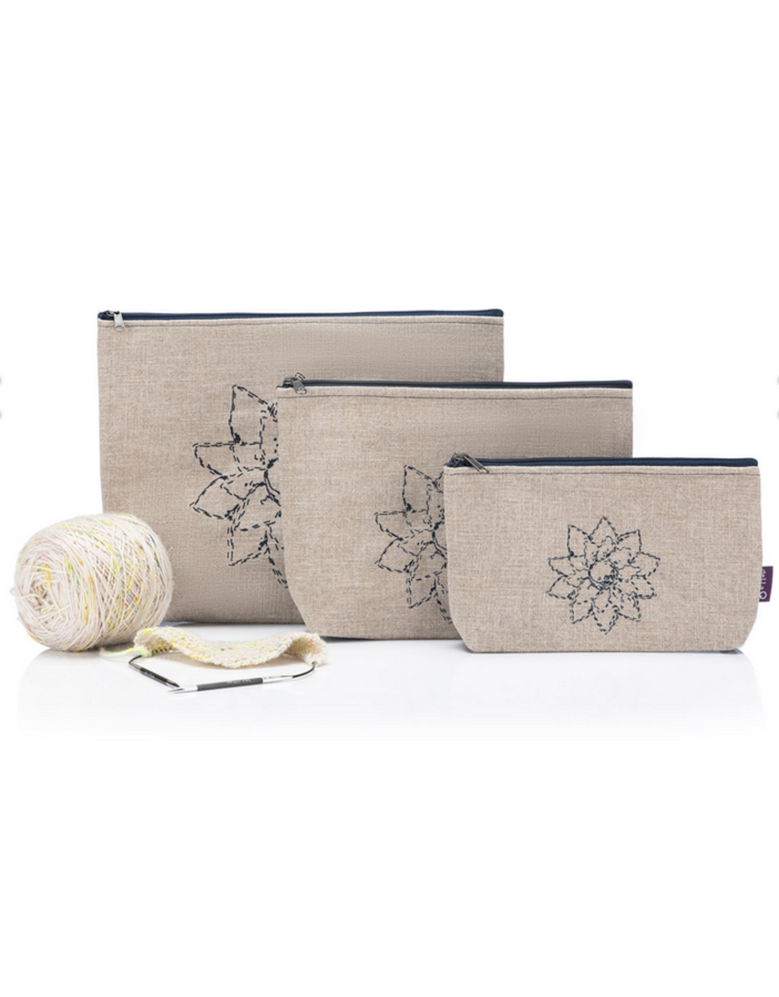Della Q - Mesh + Zip Collection - Beige Linen