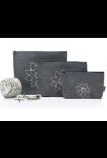 Della Q - Mesh + Zip Collection - Charcoal Linen