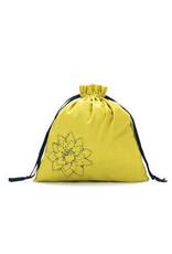 Large Eden Cotton pouch - Citrine Linen Brights - Della Q