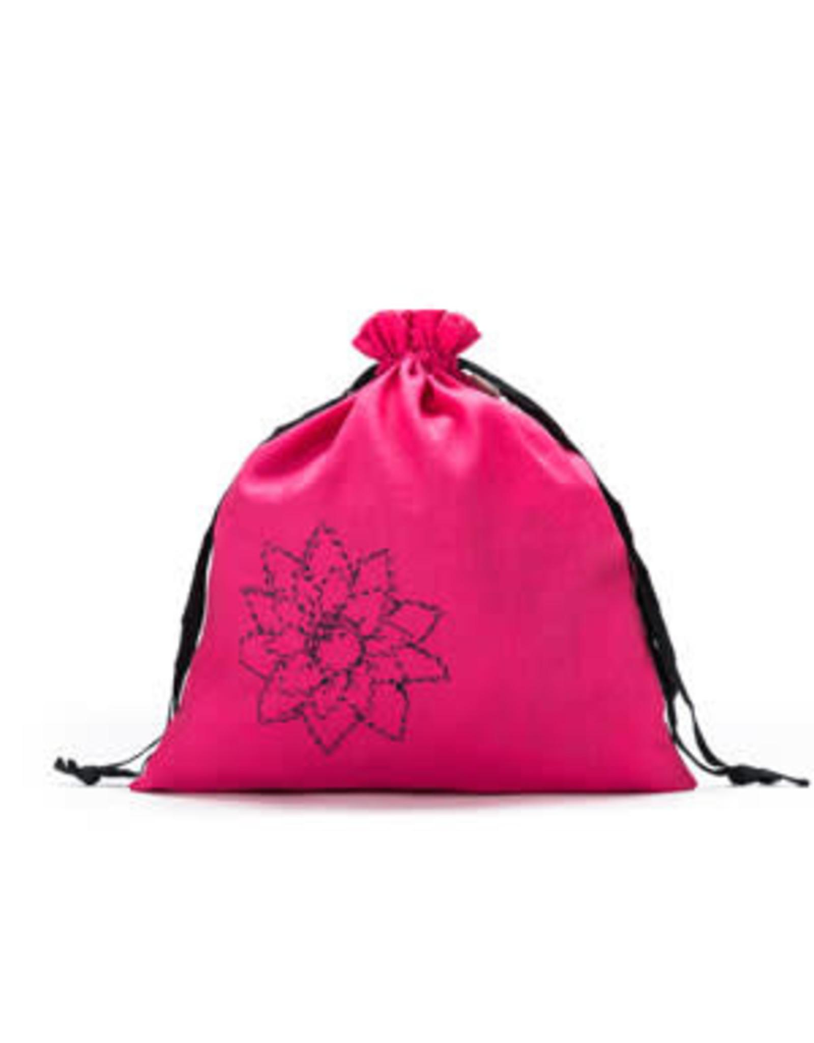 Large Eden Cotton pouch - Fuchsia Linen Brights - Della Q