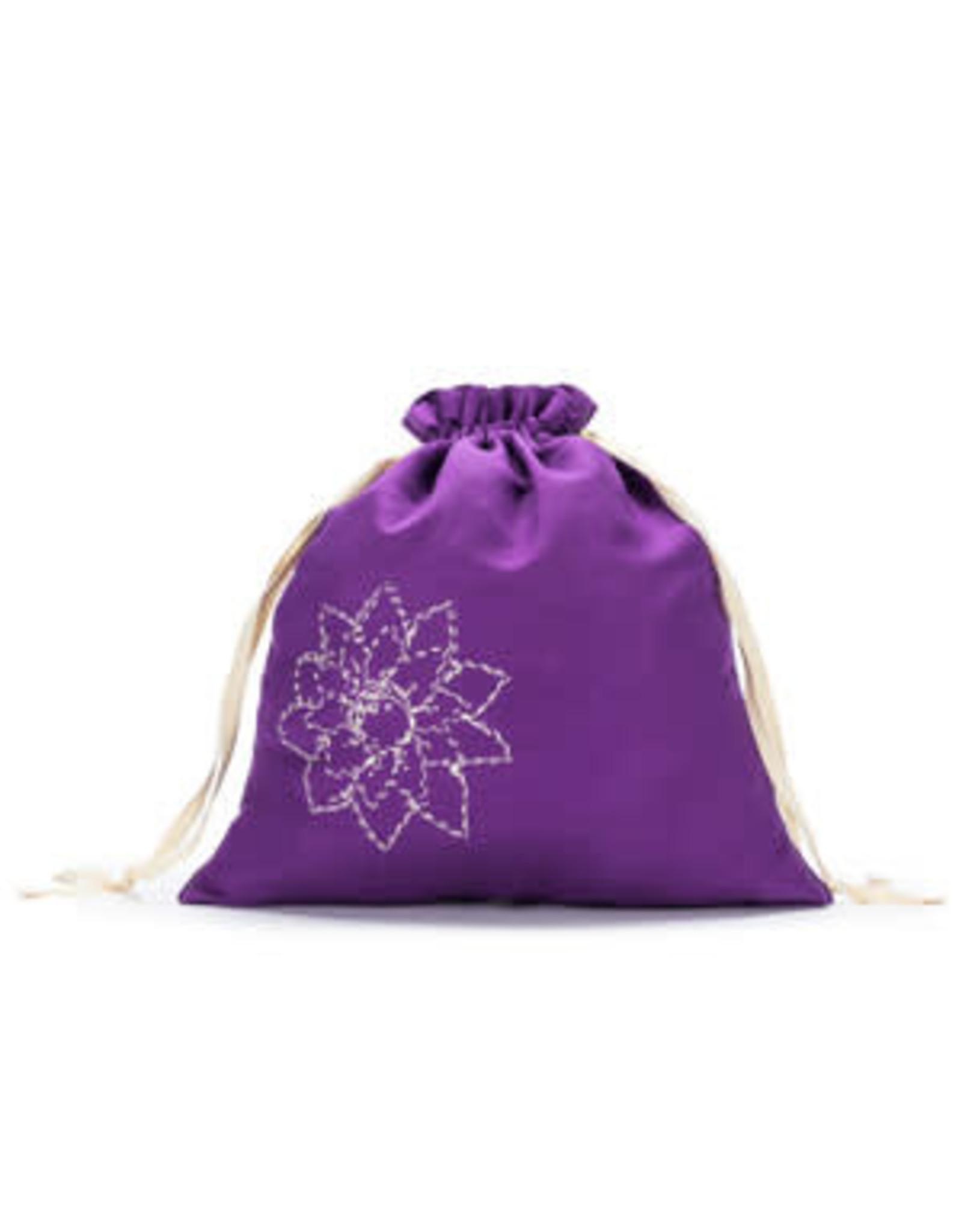 Large Eden Cotton Pouch - Violet Linen - Della Q
