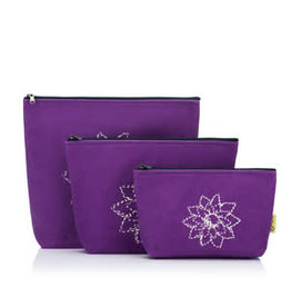 Della Q - Mesh + Zip Collection - Violet Linen Brights