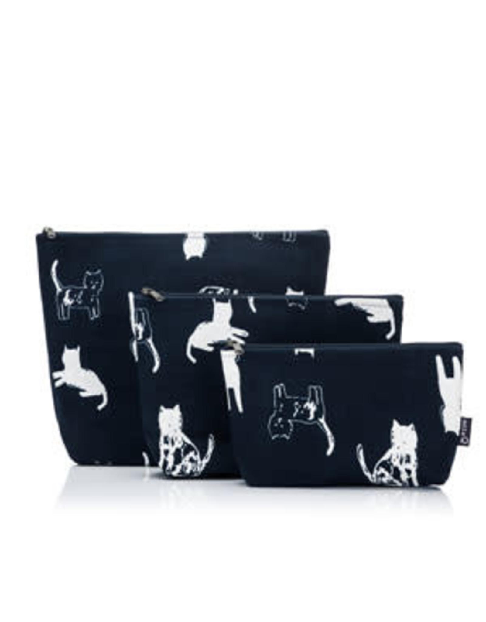 Della Q - Mesh + Zip Collection - Cat/Polka Dots Cotton Print