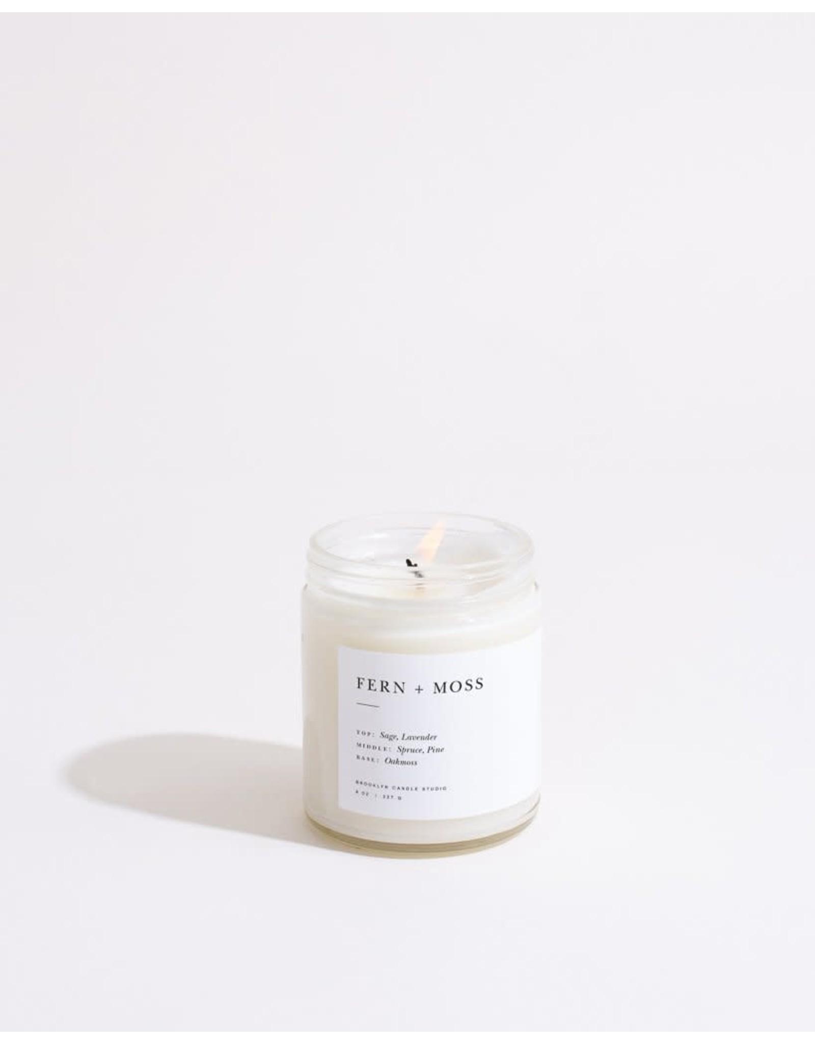 Brooklyn Candle Studio Fern + Moss - Minimalist Jar Candle - Brooklyn Candle Studio