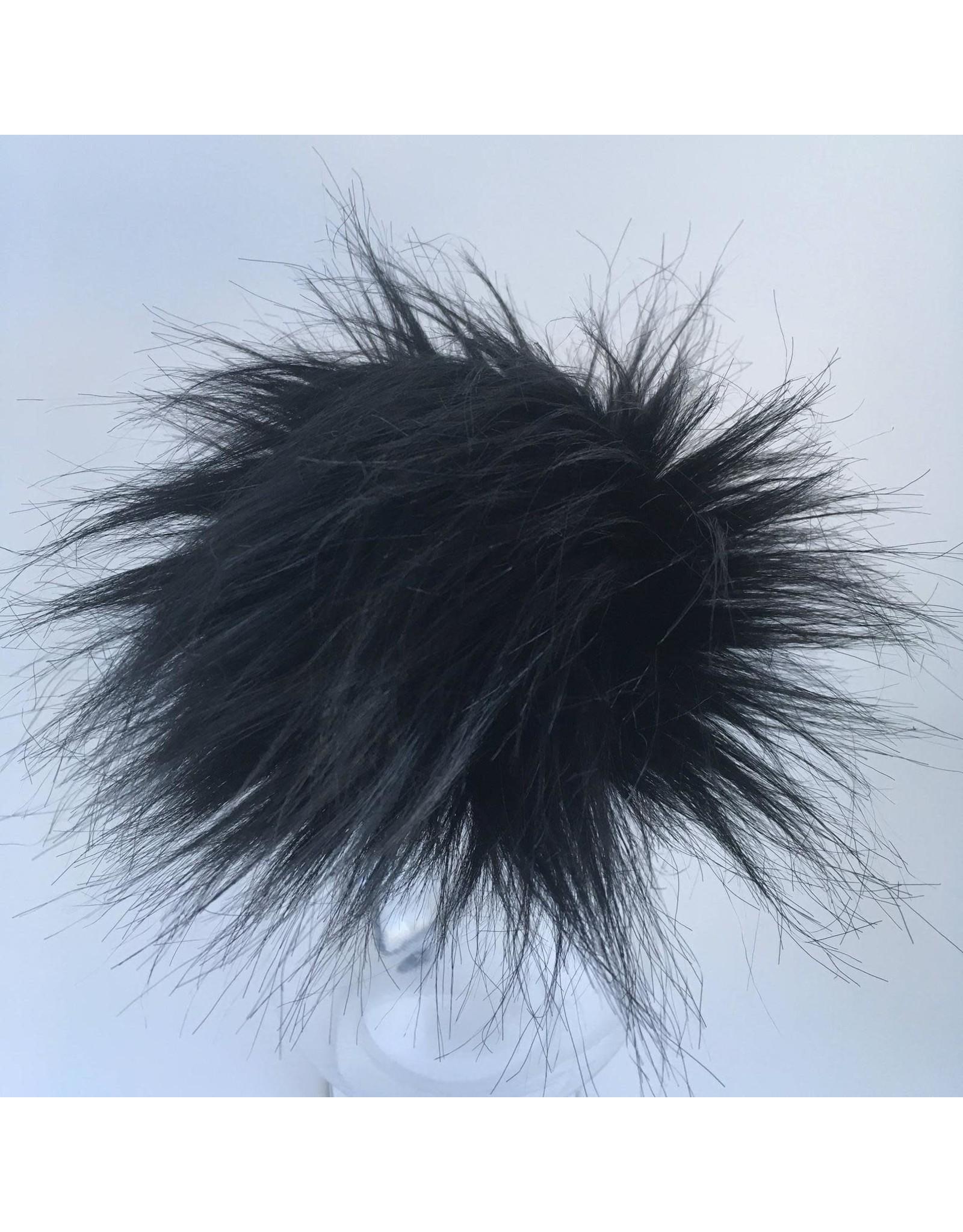 Faux Fur Pom Pom - Neutrals - Panther