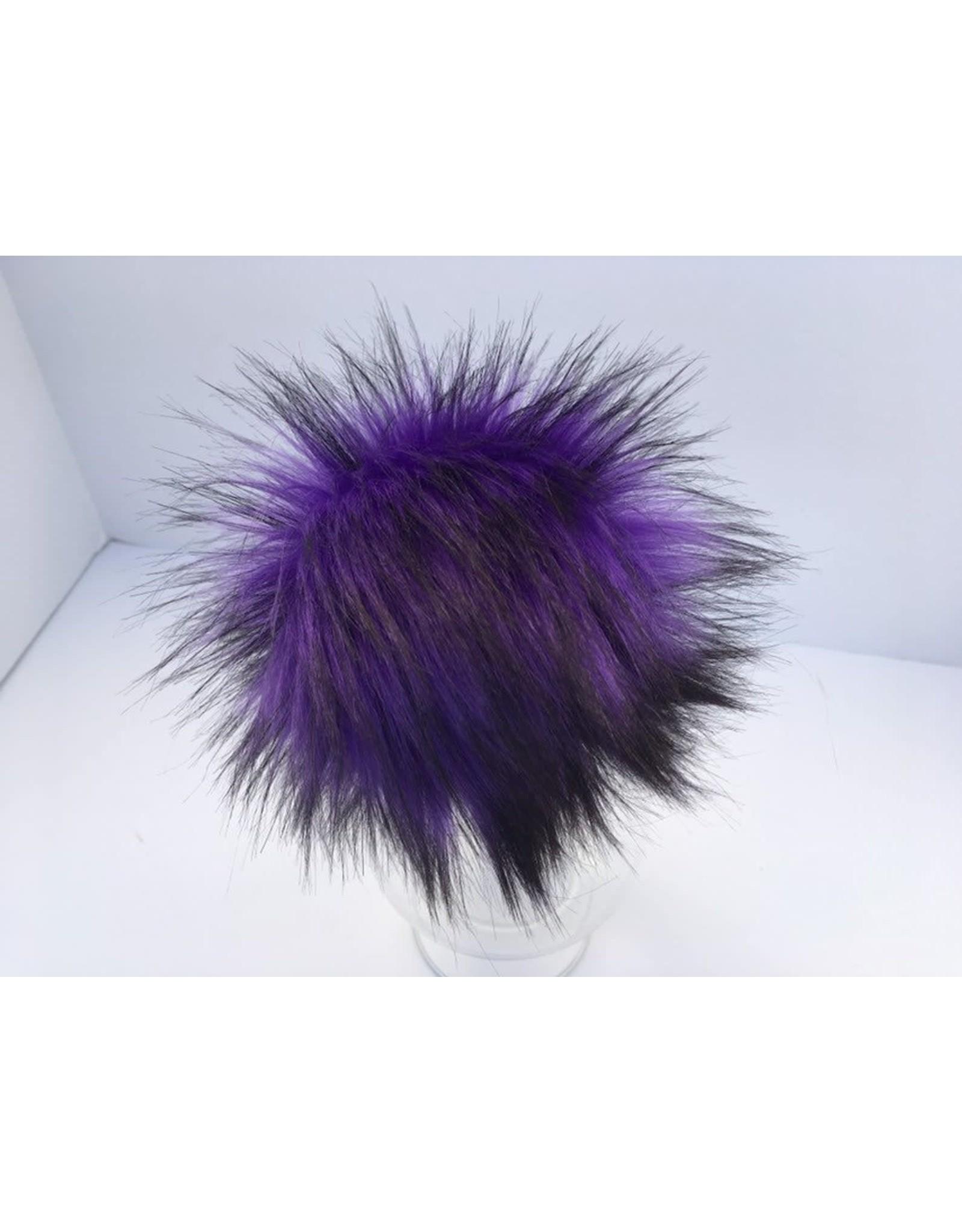 Faux Fur Pom Pom - Brights - Plum Faerie