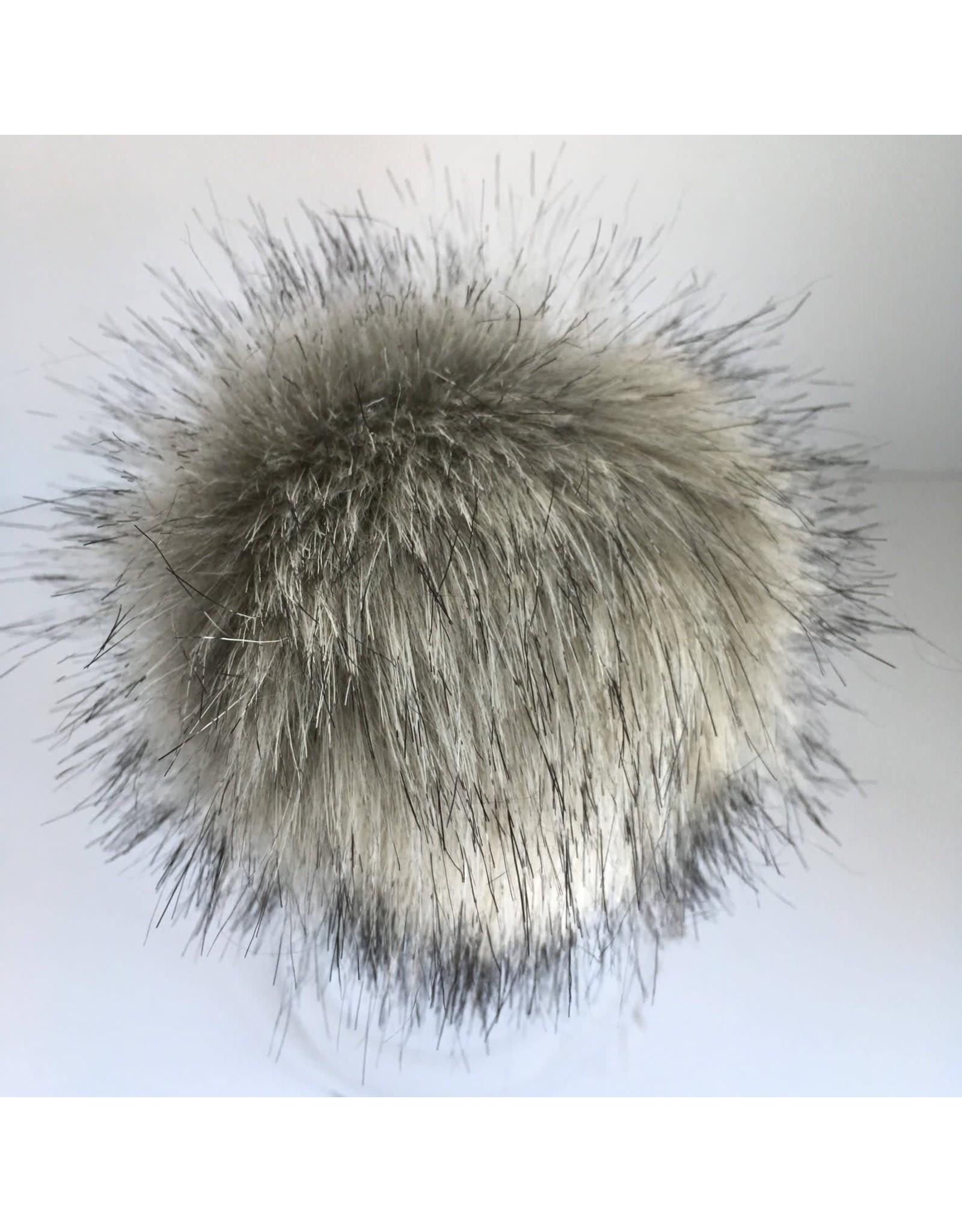 Faux Fur Pom Pom - Neutrals - Wolf