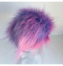 Faux Fur Pom Pom - Brights - Cotton Candy