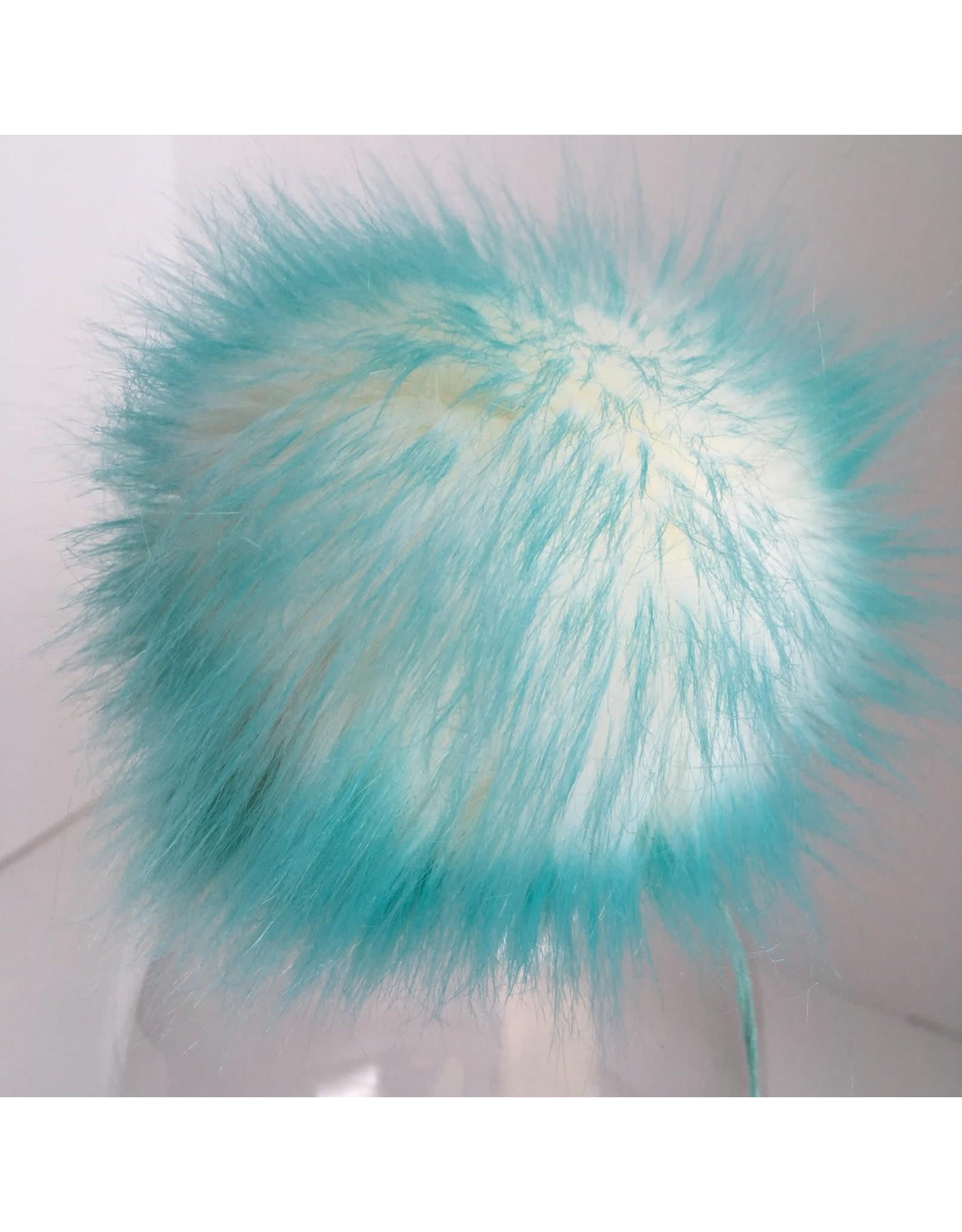 Faux Fur Pom Pom - Brights - Ocean