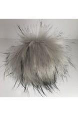 Faux Fur Pom Pom - Neutrals - Silver Fox