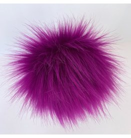 Faux Fur Pom Pom - Brights - Foxglove
