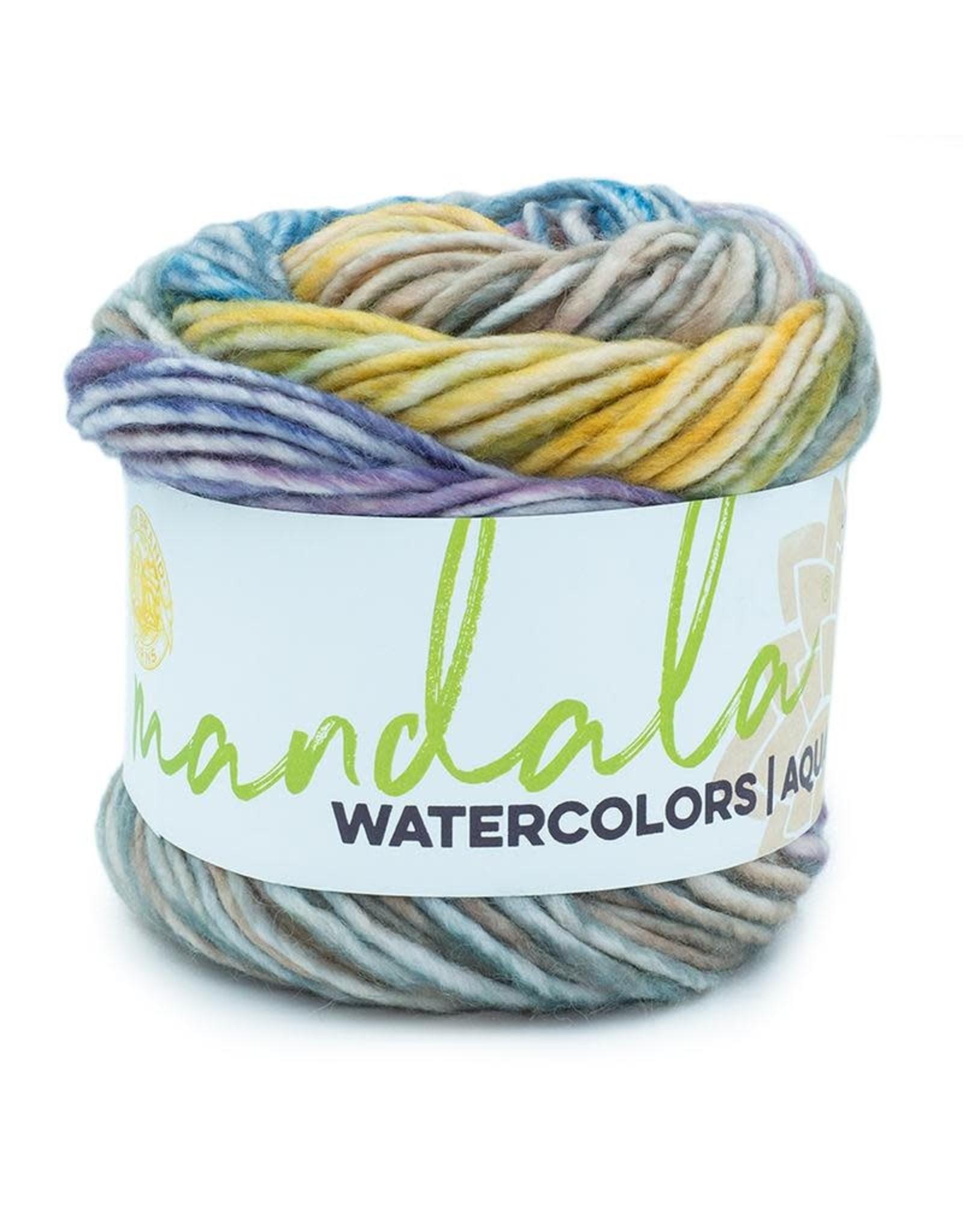 Wild Pansy - Mandala Watercolor - Lion Brand