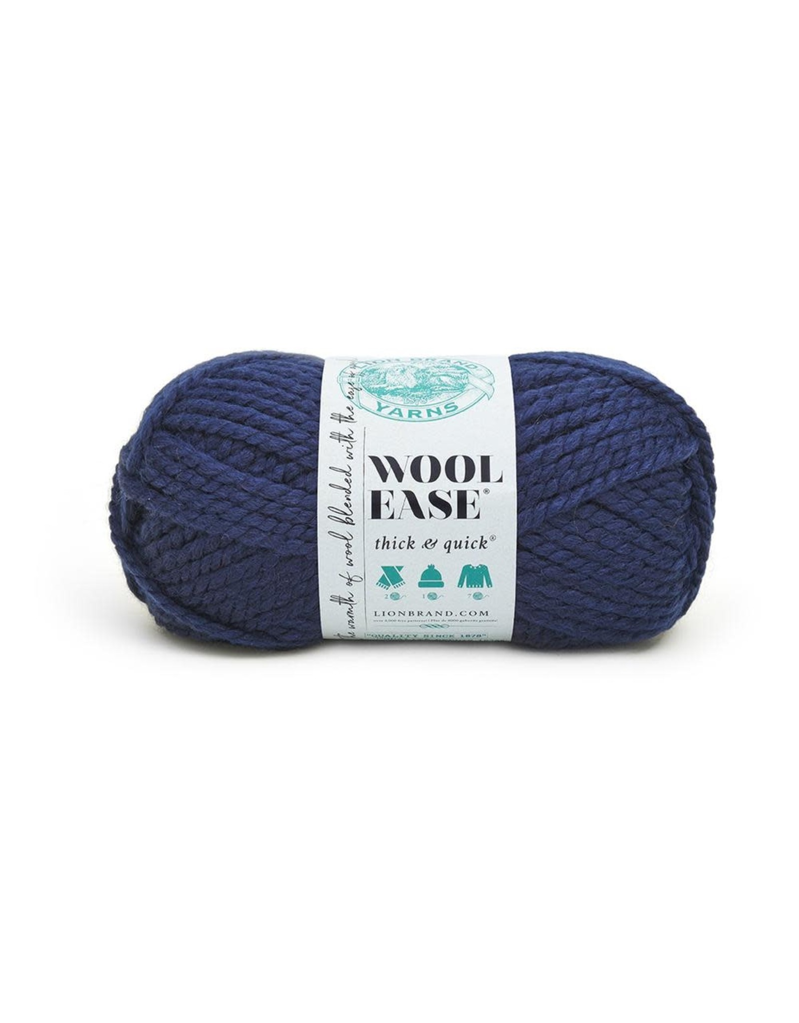 Navy - Wool Ease Thick and Quick - Lion Brand