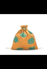 Small Eden Cotton Pouch - Aqua Linen - Della Q