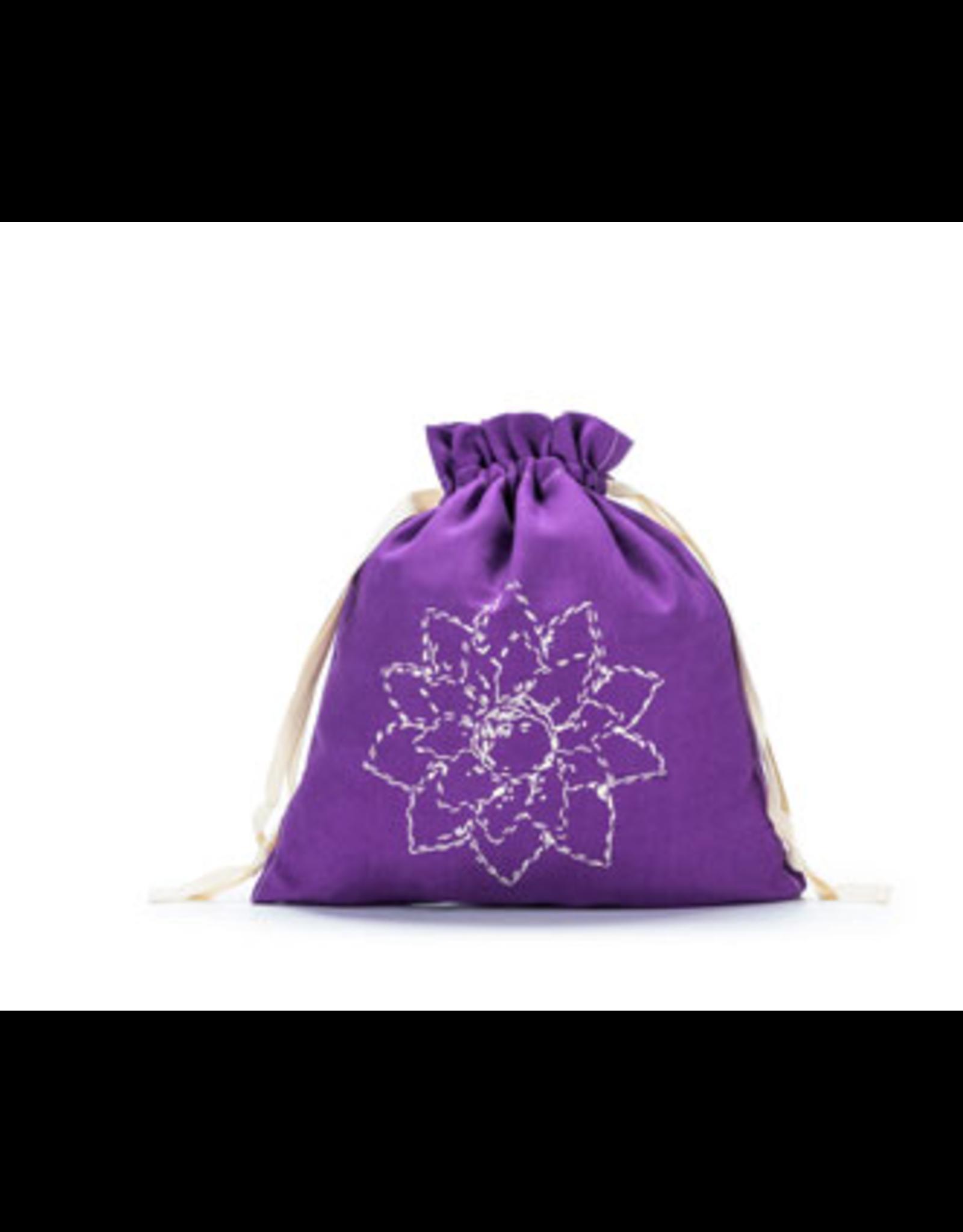 Small Eden Cotton Pouch - Violet Linen Brights - Della Q