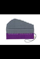 Della Q - Crochet Roll - Violet Linen Brights