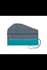 Della Q - Crochet Roll - Teal Linen Brights