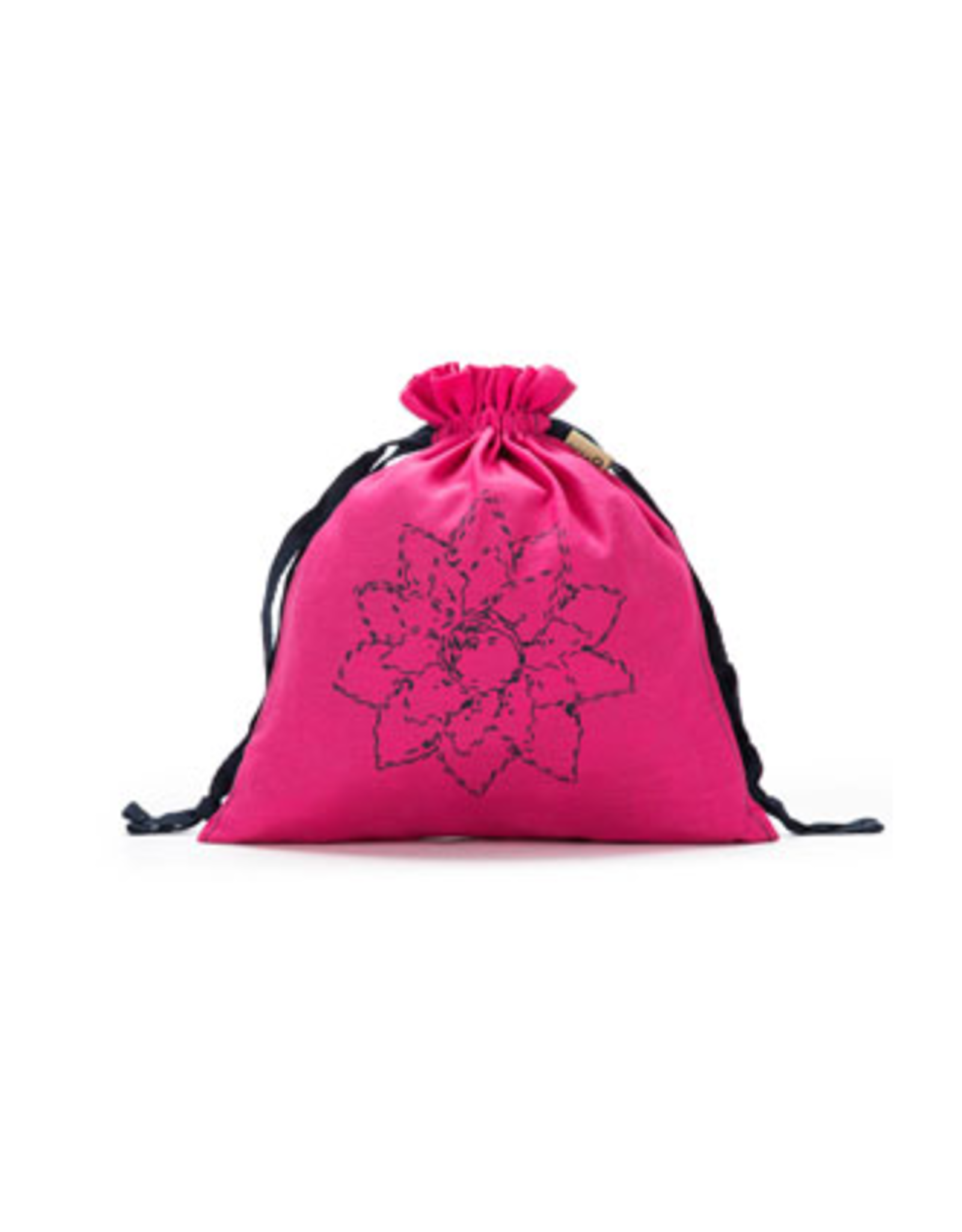 Small Eden Cotton Pouch - Fuchsia Linen Brights - Della Q