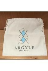 Argyle Yarn Shop drawstring project bag