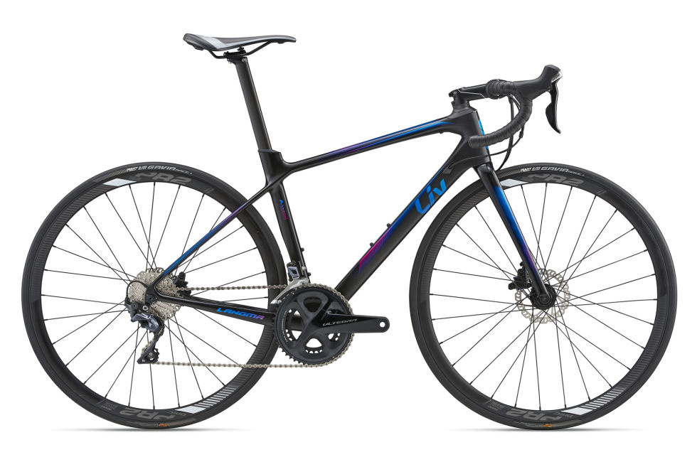 Liv 2018 Langma Advanced Disc L Satin Dark Blue Carbon/Fuchsia/Blue