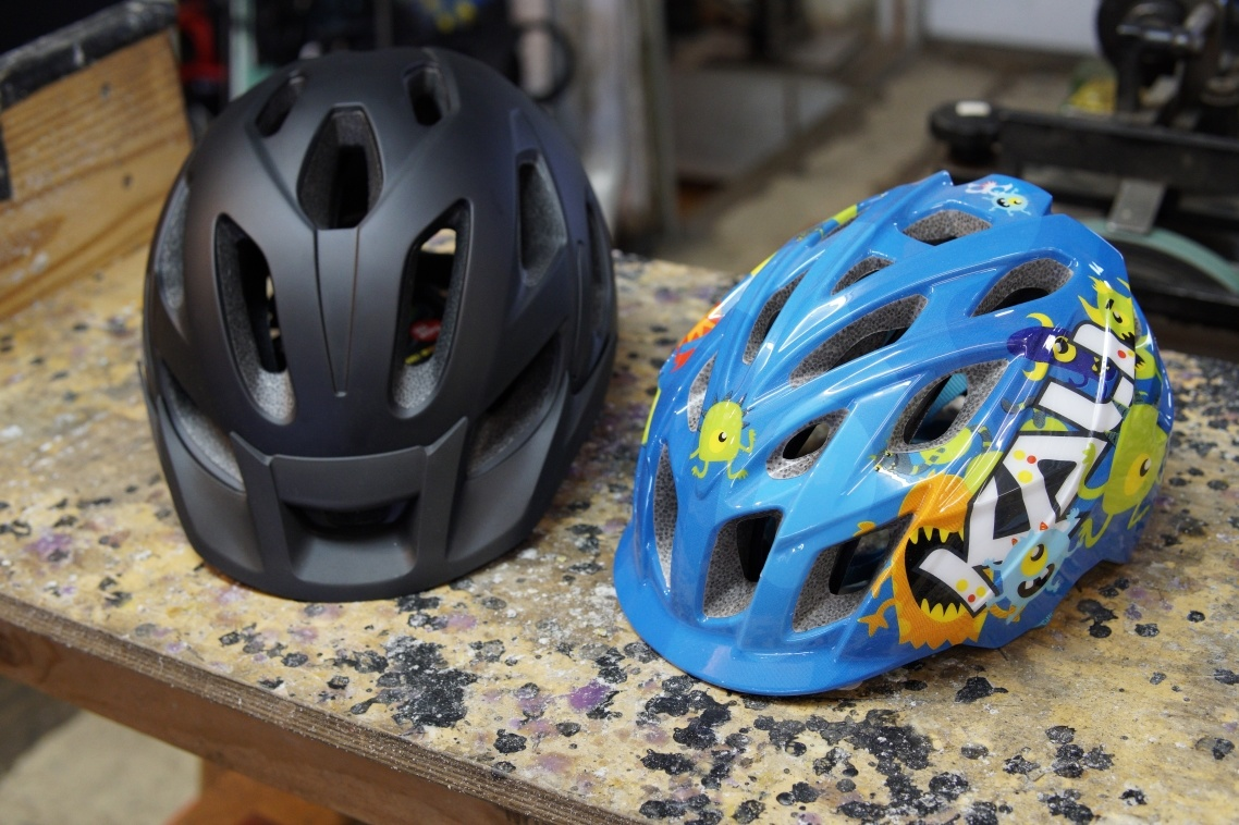 Adult and kids bicycle helmets