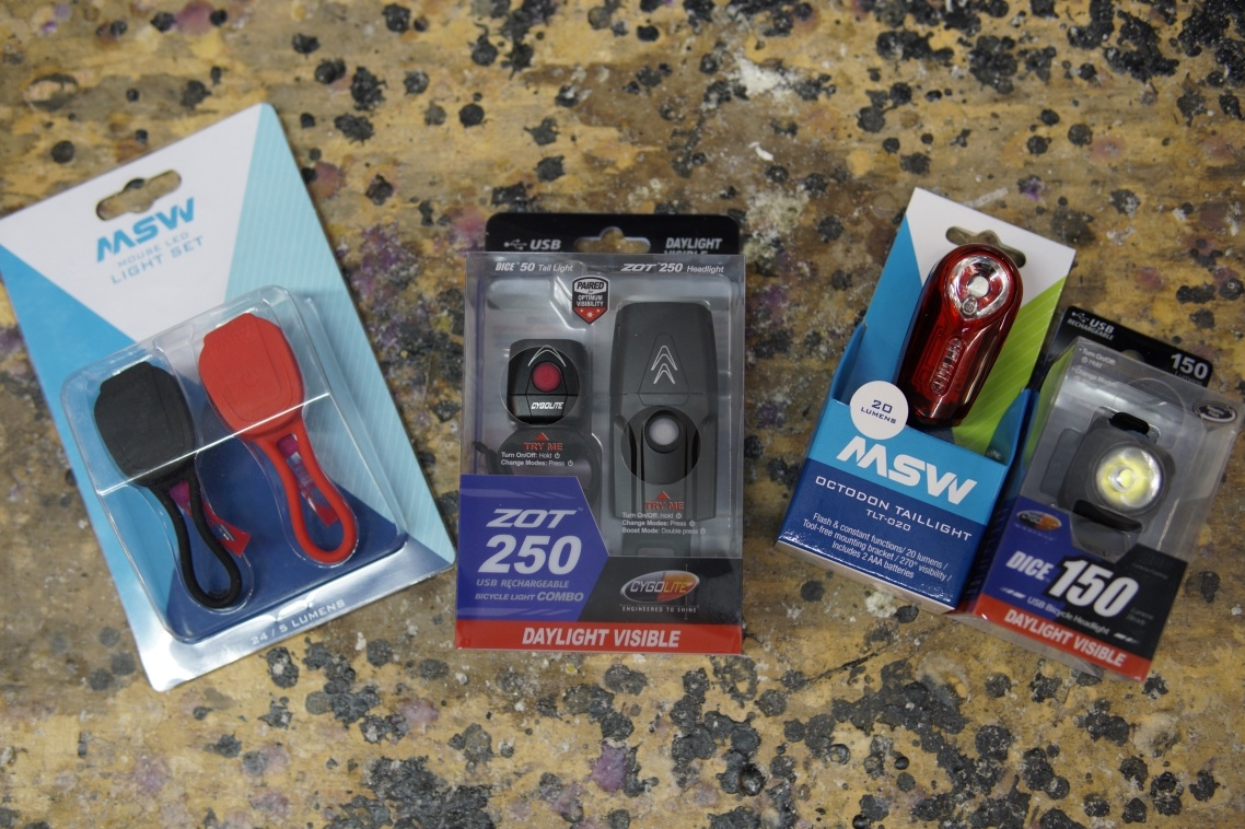 Headlight and taillight combinations, some are USB rechargeable