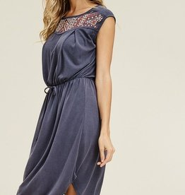 Modal Embroidered Cupro Dress