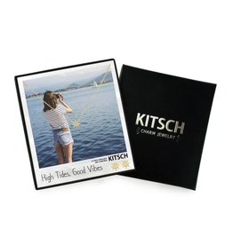 """Kitsch Shipwheel """"High Tides, Good Vibes"""" Necklace and Earring Set"""