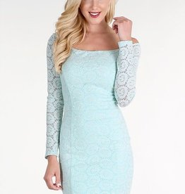Sequined Lace Off the Shoulder Dress