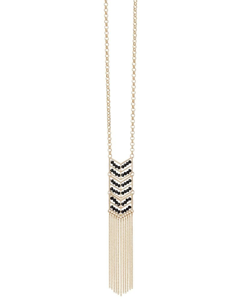 Crystal Chevron Necklace Pink<br /> If your looking for an eye catching beauty, try this Crystal Chevron Necklace. With a gold cable chain, this necklace features a chevron pendant with crystal rows that&#039;s sure to keep you on trend. Wear alone to let this style