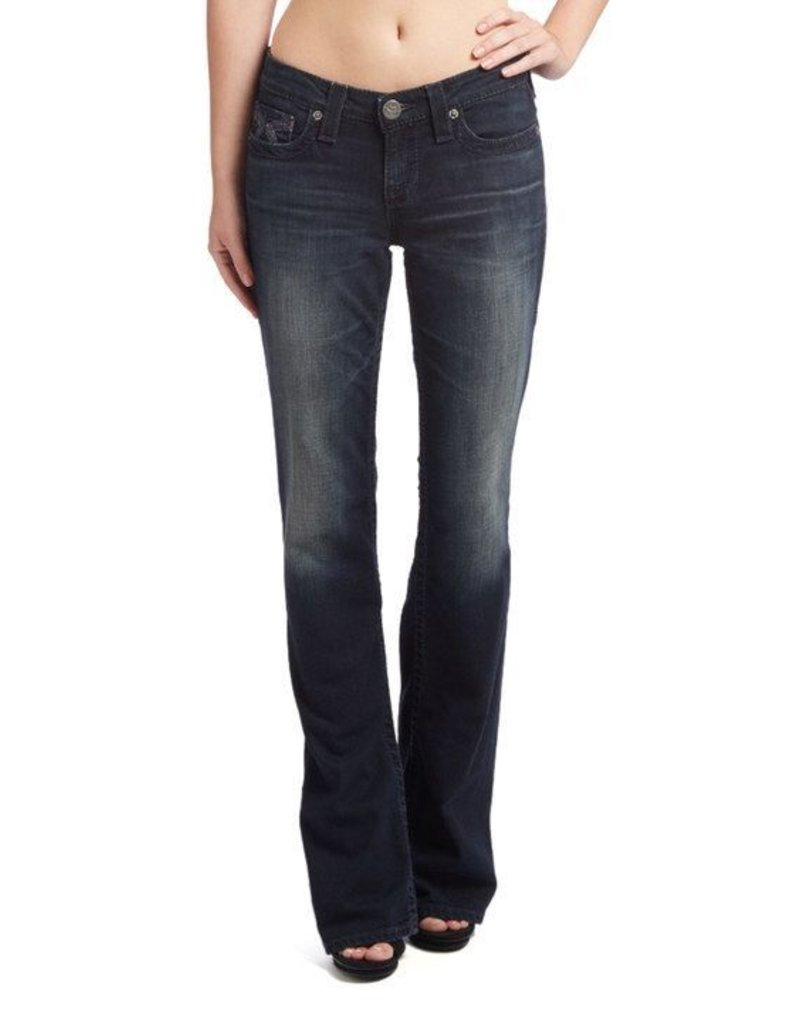 "Big Star Jeans<br /> REMY Boot Cut<br /> Low Rise<br /> Dark Wash 2 Year Moonrise<br /> Long 33"" Inseam<br /> 98% Cotton<br /> 2% Spandex"