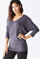 Rayon Anything BUT Basic Dolman 3/4 Sleeve V-Neck Top<br /> 95% Rayon 5% Spandex<br /> Made in USA