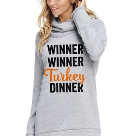 Winner Winner Turkey Dinner Long Sleeve Hoodie