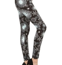 Snowflake Print Leggings Buttery Soft ONE SIZE