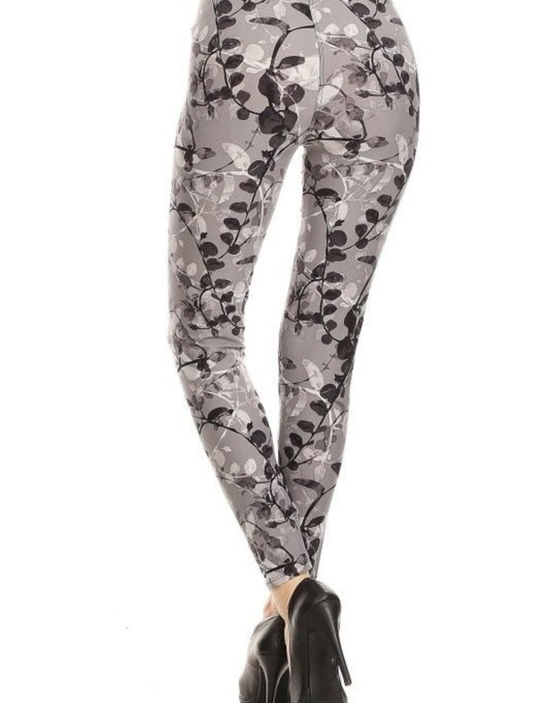 Floral Print Leggings Buttery Soft ONE SIZE<br /> 92% Polyester 8% Spandex