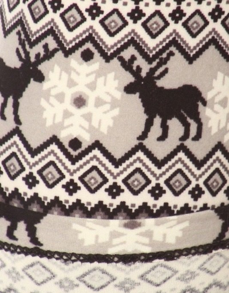 Fair Isle Winter Nordic Print Leggings Buttery Soft ONE SIZE<br /> 92% Polyester 8% Spandex