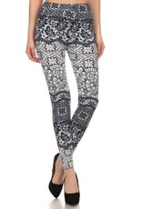 Floral Paisley Print Leggings Buttery Soft ONE SIZE<br /> 92% Polyester 8% Spandex