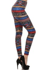 Tribal Border Print Leggings Buttery Soft ONE SIZE<br /> 92% Polyester 8% Spandex