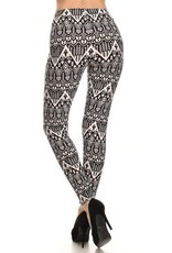 Aztec Print Buttery Soft Leggings<br /> 92% Polyester 8% Spandex